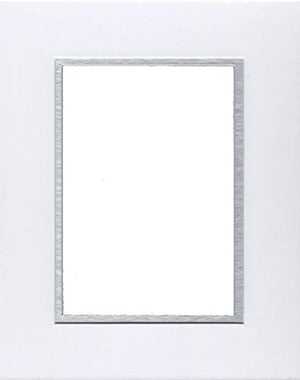22x28 White & Silver Double Picture Mats Bevel Cut for 18x24 Pictures