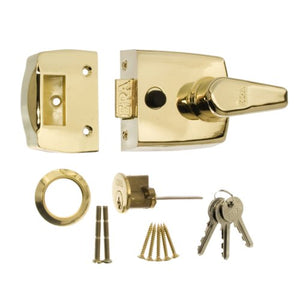 ERA 60mm High Security Replacment Nightlatch - Brass Effect Body