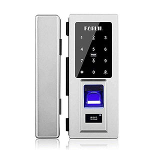 No Drill,Security Biometric Fingerprint Door Lock for Glass Door,Password Door Lock with IC Cards