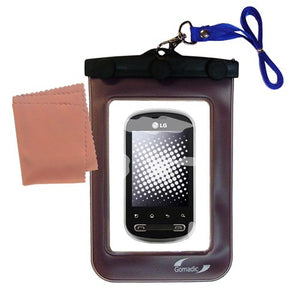 Gomadic Outdoor Waterproof Carrying case Suitable for The LG Pecan to use Underwater - Keeps Device Clean and Dry