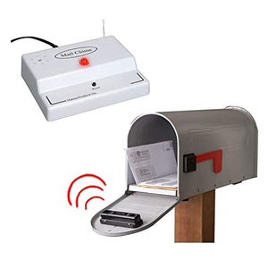 Mail Chime Mailbox Notification System  Mailbox Signal With Wireless Transmitter & Audible Arrival Alert Receiver With Bright LED Light