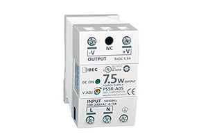 IDEC Corp. PS5RA24 24VDC output, 7.5W Output Capacity Power Supplies