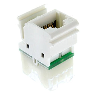 Siemon MX6-F02-D Universal Max 6 Flat Category 6 Jack, CAT6 MX6, Door, White