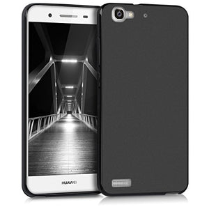 kwmobile TPU Silicone Case Compatible with Huawei GR3 / P8 Lite Smart - Soft Flexible Protective Phone Cover - Black Matte
