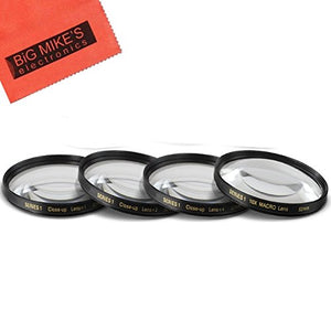 52MM Close-Up Filter Set (+1, 2, 4 and +10 Diopters) Magnification Kit for Nikon AF-S DX NIKKOR 35mm f/1.8G Lens