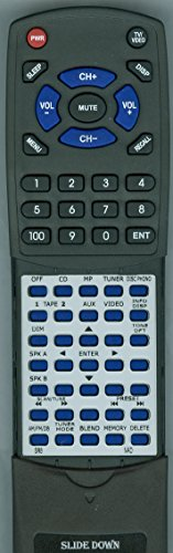 Replacement Remote Control for NAD C375BEE, C326BEE, C165BEE, C422, RCSR8, SR8