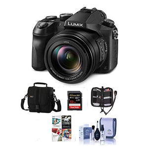Panasonic Lumix DMC-FZ2500 Digital Camera - Bundle with Camera Case, 32GB SDHC U3 Card, Memory Wallet, Cleaning Kit, SD Card Reader, PC Software Package