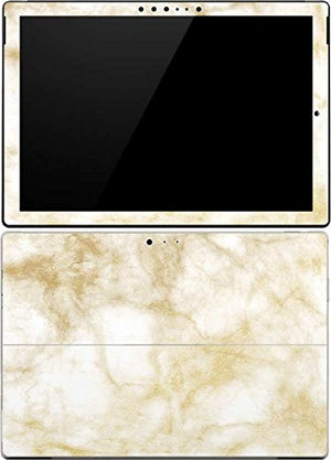 Skinit Decal Tablet Skin Compatible with Surface Pro 4 - Officially Licensed Originally Designed Gold and White Marble Design