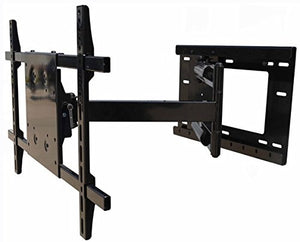 !!Wall Mount World!! Full Motion Articulating TV Wall Mount Bracket for Most 36in - 65 inch LED, LCD, OLED and Plasma Flat Screen TVs w/VESA Patterns up to 600 x 400-40