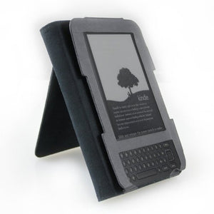 Kindle Black Leather Open Case