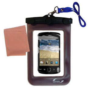 Gomadic Outdoor Waterproof Carrying case Suitable for The BlackBerry Curve Touch 9380 to use Underwater - Keeps Device Clean and Dry
