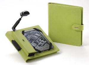 Periscope Cover+Light for Kindle Wi-Fi, Kindle Touch, Nook Simple Touch and Sony PRS-T1 in Apple Green Microfiber Fabric