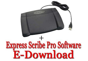 Express Scribe Pro Transcription Software with USB Foot Pedal
