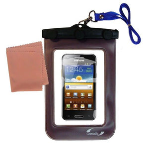 Gomadic Outdoor Waterproof Carrying case Suitable for The Samsung Galaxy Beam / I8530 to use Underwater - Keeps Device Clean and Dry