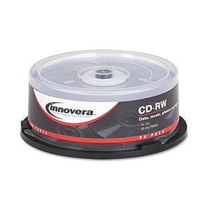 IVR78825 Innovera 78825 CD-RW Discs 700MB/80min 12x Spindle Silver 25/Pack