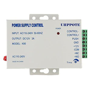 UHPPOTE Power Supply 110-240VAC to 12VDC for Door Access Control System & Intercom Camera