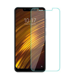 1Pcs Comaptible with Xiaomi Pocophone F1 Screen Protector,Lyperkin Premium 9H Hardness Full Coverage Tempered Glass Ultra Slim Screen Protector HD Clear Film Compatible with Xiaomi Pocophone F1.