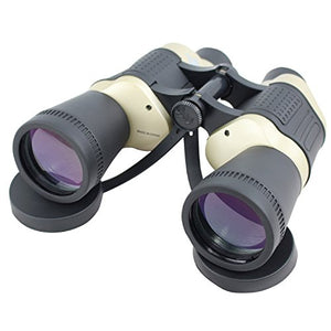 30X50 Perrini Black & Tan Free Focus Binoculars 119M/1000M With Strap Pouch
