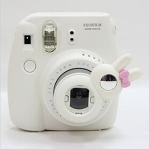 CLOVER Close Up Lens Rabbit Self-Portrait Mirror for Fujifilm Instax Mini 7s 8 Camera - White
