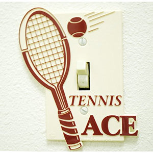 Tennis Plastic Switch Plate-Burgundy-6Pack