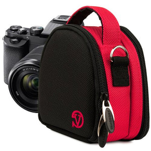 VanGoddy Compact Mini Laurel HOT Pink Camera Pouch Cover Bag fits Canon PowerShot ELPH 530, 520, 340, 330, 320, 130, 115, 110