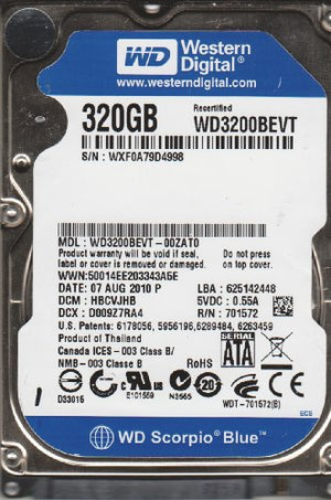 500GB 7200rpm 2.5 Laptop Hard Drive for Toshiba Satellite P750-ST6N02 P750D-BT4N22 P755-3DV20 P755-S5120