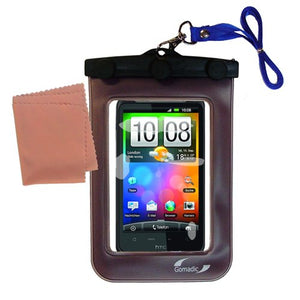 Gomadic Outdoor Waterproof Carrying case Suitable for The HTC Incredible HD to use Underwater - Keeps Device Clean and Dry