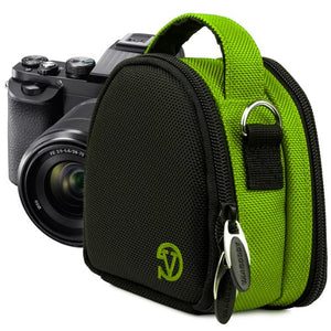 VanGoddy Compact Mini Laurel Lime Green Camera Pouch Cover Bag fits Canon PowerShot ELPH 530, 520, 340, 330, 320, 130, 115, 110