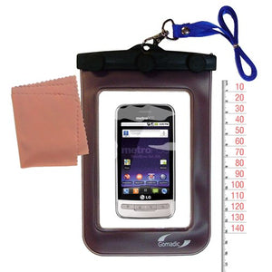 Gomadic Outdoor Waterproof Carrying case Suitable for The LG MS690 to use Underwater - Keeps Device Clean and Dry