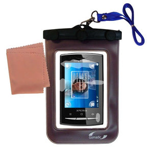 outdoor Gomadic waterproof carrying case suitable for the Sony Ericsson Xperia Pro to use underwater - keeps device clean and dry
