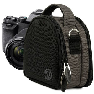 VanGoddy Compact Mini Laurel Grey Steel Camera Pouch Cover Bag fits Olympus VG-180, VG-165