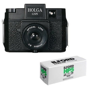 Holga 120N Medium Format Film Camera (Black) with 120 Film Bundle