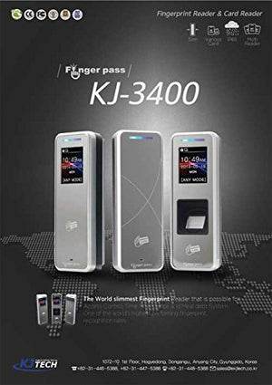 Slim Color Screen Fingerprint Reader Security System