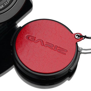 Gariz Genuine Leather XA-CFDLR Camera Capfix Cap Fixs for Leica DLUX/Panasonic Lumix LX100, Red