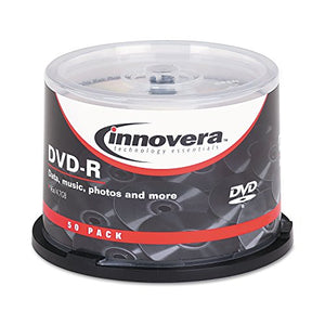 Innovera 46850 DVD-R Discs, 4.7GB, 16x, Spindle, Silver, 50/Pack
