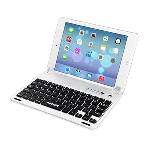 iPad Mini 5 / Mini 4 Keyboard, Arteck Ultra-Thin Apple iPad Mini Bluetooth Keyboard Folio Stand Groove for Apple iPad Mini 5 (2019) iPad Mini 4 (2015) with 130 Degree Swivel Rotating
