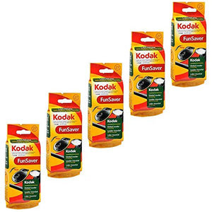 Kodak Fun Saver Single Use Camera 27 Exposures - 1 Each, Pack of 5