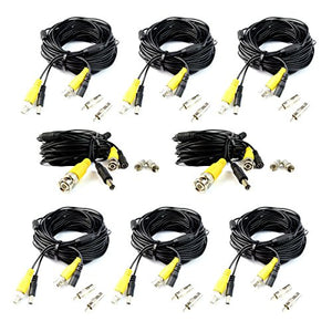 8 x 60 FT BNC Video Power Security Cable for CCTV Surveillance Camera DVR System
