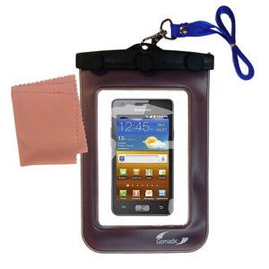 outdoor Gomadic waterproof carrying case suitable for the Samsung Galaxy R Style to use underwater - keeps device clean and dry