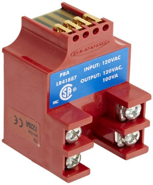 Banner PBA Multi Beam Sensor, 3 and 4 Wire Power Blocks, Relay Output Type, 250 Output Capacity, 130 VAC Supply Voltage, 2.5VAC On StateV Saturation