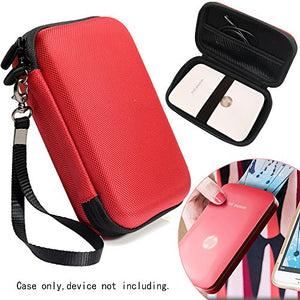 Protective Case for HP Sprocket Select, Sprocket Plus Instant Photo Printer, Kodak Mini 2 / Mini Shot Portable Mobile Printer Camera Protective Pouch Box, Red