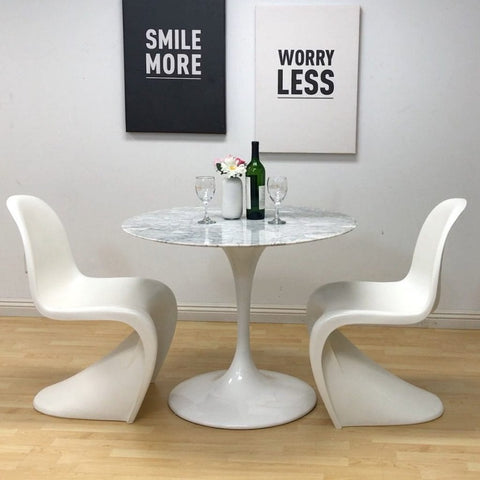 Mod made mid-century modern molded plastic S-shape dining chair