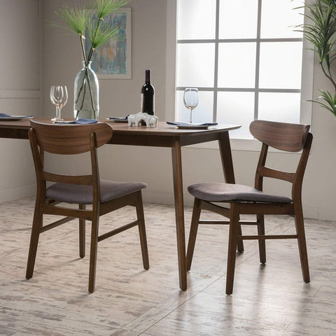 Idalia Fabric/Walnut Finish Dining Chair