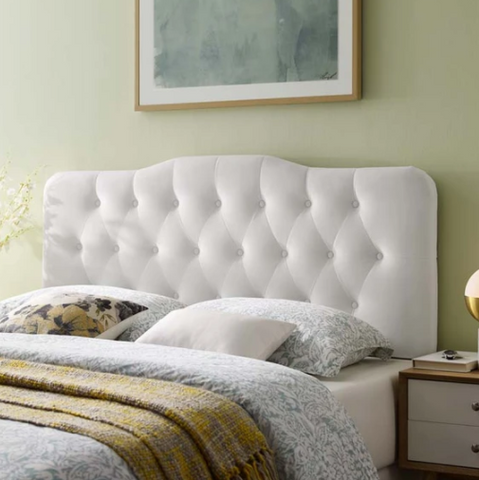 ABIGAIL DIAMOND TUFTED VELVET KING HEADBOARD