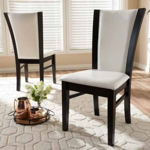 ADRINA WHITE FAUX LEATHER DINING CHAIR