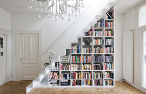 Books in staircases