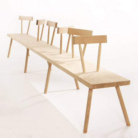 Chair Bench, designed by Gitta Gschwendtne