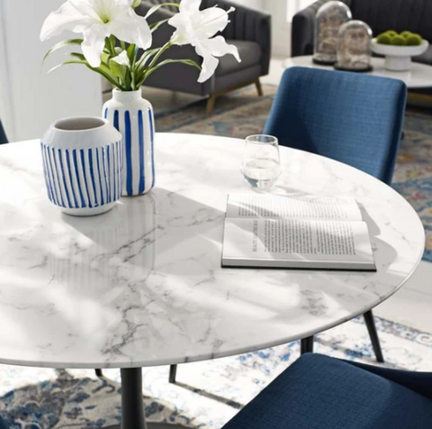 Tulip Table Marble Top