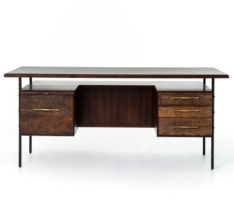 Lauren Natural Peroba Mid-Century Modern Office Desks