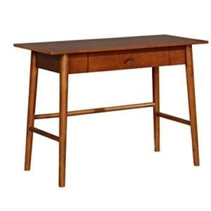 Linon Walnut Mid-Century Modern Office Desks